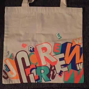 J. Crew Greg Lamarche Limited Edition Canvas Tote